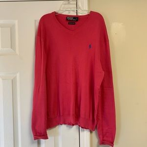 Polo by Ralph Lauren 100% Pima Cotton Pink Sweater